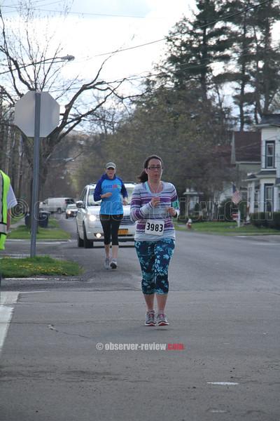 Heart of Finger Lakes 5k run/walk in Dundee, NY 2016.