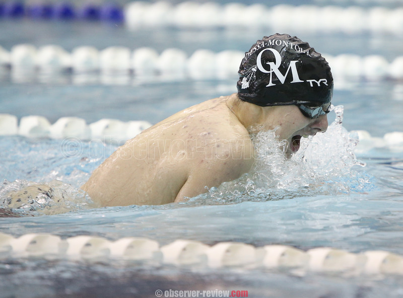 Watkins Glen and Odessa-Montour swimming at the Section IV preliminaries 2-17-16.