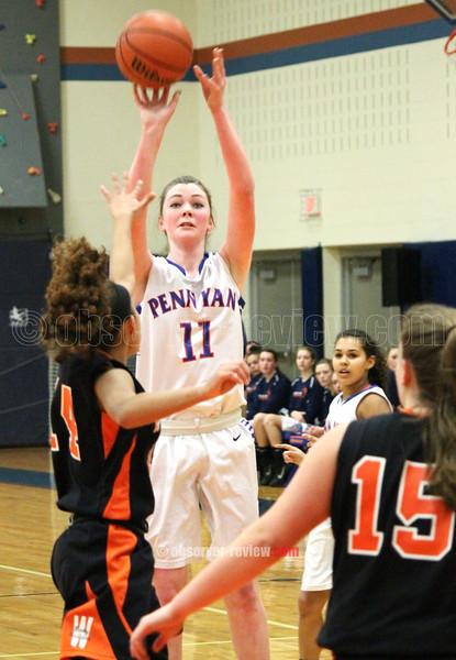 Penn Yan Girls Basketball 2-17-16.