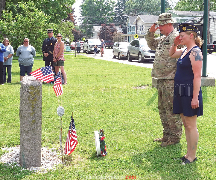 At the conclusion of the parade in Dundee there was a service at the Seneca Street park to honor soldiers who fell in combat.