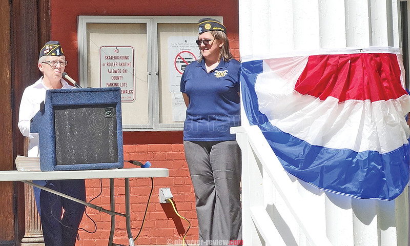 Penn Yan Post 355 Commander Ellen Hey was the featured speaker at the Penn Yan Memorial Day service.