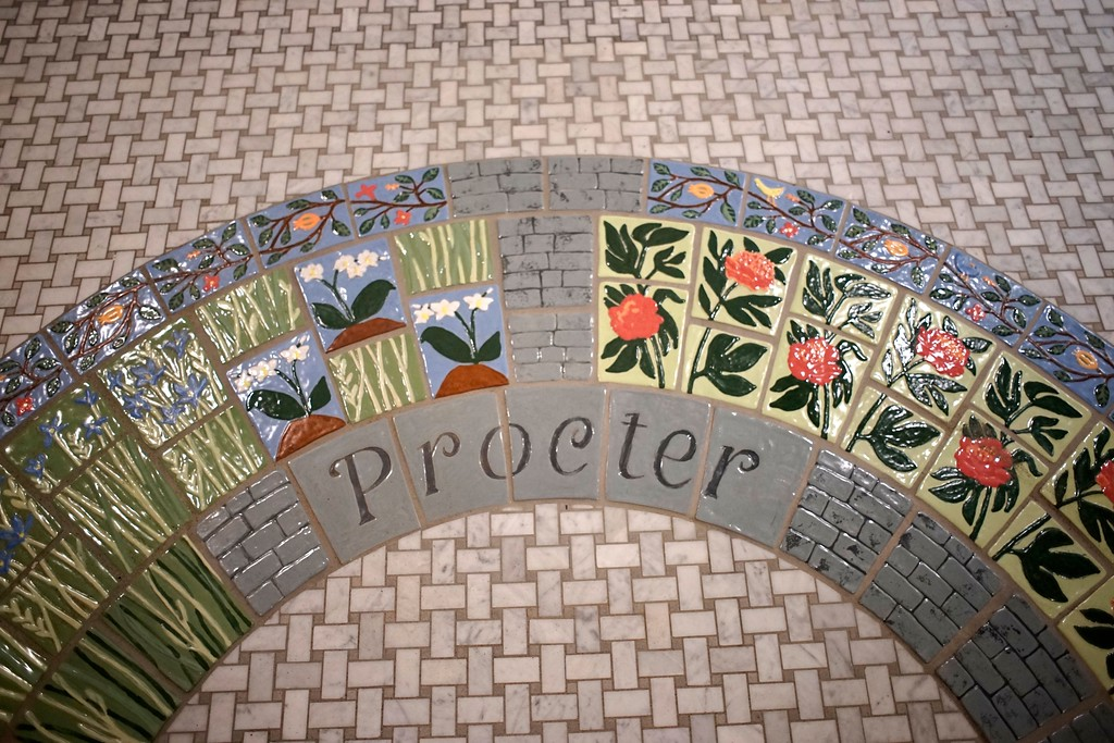 . The tiles that lead into the Procter Museum and Archives at the Stockbridge Library are created by Terry Wise and Ben Evans, Tuesday, April 26, 2016. Ben Garver � The Berkshire Eagle | photos.berkshireeagle.com