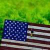 KRISTOPHER RADDER - BRATTLEBORO REFORMER<br /> A purple heart placed on an American Flag.