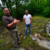 KRISTOPHER RADDER - BRATTLEBORO REFORMER<br /> Aaron Phillips, executive director of Warrior Connection and former Marine, 91-97,  and Dan Sliver, participating in his third Warrior Connection retreat, talk about their experience on Thursday, July 13, 2017.
