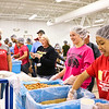 LEANDRA BEABOUT | THE GOSHEN NEWS<br /> Westview High School students and teachers enjoyed packing meals for Feed My Starving Children.