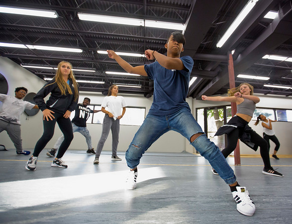 JAY YOUNG   THE GOSHEN NEWS<br /> Darian Dim works on his dance moves during a hip hop dance class Wednesday evening at Epic Dance Studios.