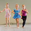 JAY YOUNG | THE GOSHEN NEWS<br /> From left, Reese Holland, Olivia Hummel and Harper Kelly skip down the dance floor during a Kinderdance class Wednesday evening at Epic Dance Studios.