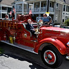 Frank J. Kennedy, the oldest living Troy firefighter, celebrated his 100th birthday (August 22) with a ride on an antique 1947 Mack fire truck to his last fire station on Canal Ave in Troy, N.Y., Sunday, August 25, 2013. (Mike McMahon/The Record)