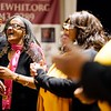BEN GARVER — THE BERKSHIRE EAGLE<br /> The Total Praise Ensemble sing a powerful gospel presentation at The Women of Color Giving Circle of the Berkshires annual Kwanzaa Celebration at the Whitney Center for the Arts in Pittsfield, Friday December 28, 2018.