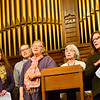 KRISTOPHER RADDER — BRATTLEBORO REFORMER<br /> A group of people bids a historic farewell as they gather for the last religious ceremony at the First Baptist Church, on Main Street, in Brattleboro, during a Thanksgiving service that was sponsored by the Brattleboro Area Interfaith Alliance on Nov. 26, 2019.
