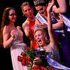 KRISTOPHER RADDER - BRATTLEBORO REFORMER<br /> Ivy Young-Kennison, 2017 pageant queen, puts the crown onto Meara Seery after winning the final Brattleboro Winter Carnival Queen's Scholarship Pageant on Friday, Feb. 23, 2018.