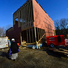 KRISTOPHER RADDER - BRATTLEBORO REFORMER<br /> Mary Greene, managing director for Brattleboro Music Center, give a tour through the construction of their new facility at the former Winston Prouty Center on Monday, Feb. 27, 2017.