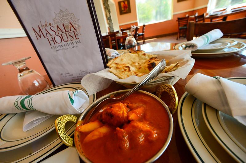KRISTOPHER RADDER - BRATTLEBORO REFORMER<br /> Chicken Aamwala dish at India Masala House on Putney Road.