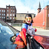 KRISTOPHER RADDER - BRATTLEBORO REFORMER<br /> Cassandra Dunn dressed as the Brattleboro Parking Hero quickly jumps to the rescue of a citizen by paying their parking ticket on Friday, May 4, 2018. The parking was paid by the Downtown Brattleboro Alliance. There are plans for the hero to return to the streets of Brattleboro another four times in 2018.