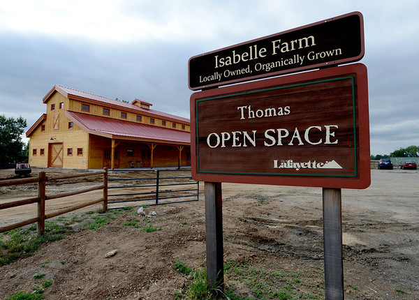 "Thomas Open Space Barn will serve as a storefront for Isabelle Farms, which farms the 14 acres of OS the city bought in 2005 with organic crops. The city holds a big opening ceremony on Friday, June 1 and the barn officially opens for business at the end of June.<br /> For a video of the barn, go to  <a href=""http://www.dailycamera.com"">http://www.dailycamera.com</a>.<br /> Cliff Grassmick / May 25, 2012"