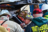 KRISTOPHER RADDER - BRATTLEBORO REFORMER<br /> Brattleboro Fire Chief Michael Bucossi on the radio giving orders as several firefighting crews responded to a three-alarm fire at 55 Brisk Lane in Brattleboro on Tuesday, Feb. 21, 2017. The fire, which was first called in at 7:58 a.m., was updated to a third alarm at 8:10 a.m.  Crews shutdown a section of Putney Road as they tap various hydrants to help battle the blaze.