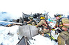 KRISTOPHER RADDER - BRATTLEBORO REFORMER<br /> Brattleboro firefighters Lt. John Jones, Parker Waite, and Alex Morin uses the hose to tackle the fire in the back during a three-alarm fire at 55 Brisk Lane in Brattleboro on Tuesday, Feb. 21, 2017. The fire, which was first called in at 7:58 a.m., was updated to a third alarm at 8:10 a.m.  Crews shutdown a section of Putney Road as they tap various hydrants to help battle the blaze.