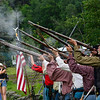 KRISTOPHER RADDER — BRATTLEBORO REFORMER<br /> Civil War reenactors fire their muskets during the 32nd annual Time Line Event educated visitors about different time periods in Dover, Vt., on Saturday, July 27, 2019.