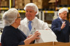 Governor Tom Corbett visits Asher's Chocolates in Franconia Township.   Tuesday, July 8, 2014.  Photo by Geoff Patton