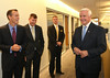 Governor Tom Corbett visits Almac in Lower Salford Township.   Tuesday, July 8, 2014.  Photo by Geoff Patton