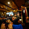 KRISTOPHER RADDER — BRATTLEBORO REFORMER<br /> Democratic presidential candidate businessman Andrew Yang holds a town hall at Branch and Blade Brewing Company, in Keene, N.H., on Monday, Dec. 2, 2019.
