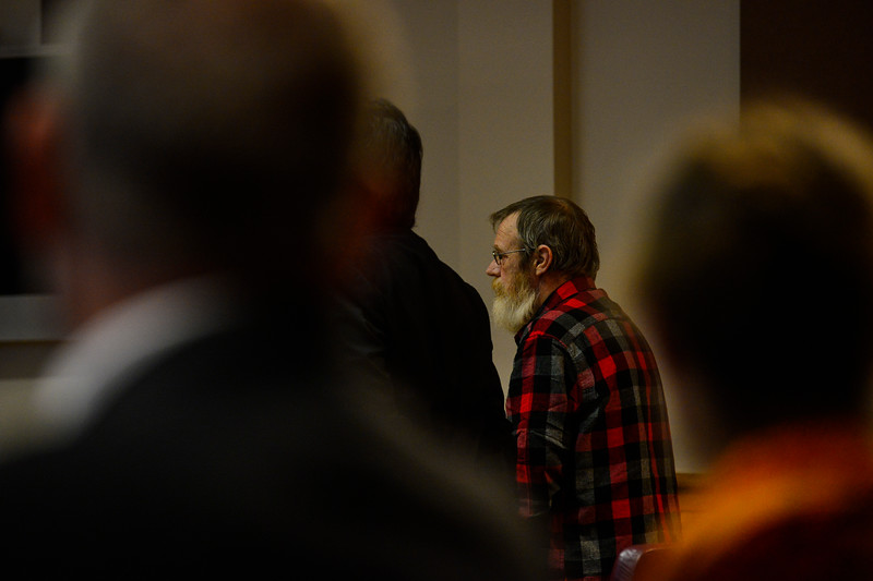 KRISTOPHER RADDER — BRATTLEBORO REFORMER<br /> Michael D. Cheeney appears in Windham County Superior Court/Criminal Division on Tuesday, Nov. 6, 2018, to change his plea to guilty in the death of Stanley Lynde.