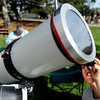 "Victor Lita, 9, looks through a telescope while observing the Transit of Venus on Tuesday, June 5, at the Fiske Planetarium and Science Center on the University of Colorado campus in Boulder. For more photos and video of the Transit of Venus go to  <a href=""http://www.dailycamera.com"">http://www.dailycamera.com</a><br /> Jeremy Papasso/ Boulder Daily Camera"