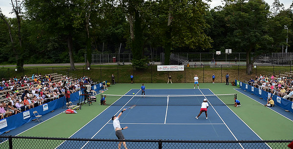 Tennis exhibition at the tennis pavilion dedication ceremony on Friday August 15th. gregg slaboda photo
