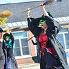 KRISTOPHER RADDER — BRATTLEBORO REFORMER<br /> Witches gathered in a group to perform a dance during a trunk-or-treat event at the Chesterfield Elementary School, in Chesterfield, N.H., on Saturday, Oct. 26, 2019.