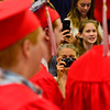 KRISTOPHER RADDER - BRATTLEBORO REFORMER<br /> Robin Kehoe takes a photo of her son Sam as he marches in during the Twin Valley Middle High School commencement ceremony on Saturday, June 9, 2018.