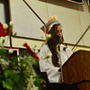 KRISTOPHER RADDER - BRATTLEBORO REFORMER<br /> Tatyanna Bowman, the valedictorian for the class of 2018,  delivers her speech during the Twin Valley Middle High School commencement ceremony on Saturday, June 9, 2018.