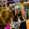 KRISTOPHER RADDER - BRATTLEBORO REFORMER<br /> Taylor Florence, a graduating senior, walks down the center of the audience during the Twin Valley Middle High School commencement ceremony on Saturday, June 9, 2018.