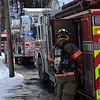 KRISTOPHER RADDER - BRATTLEBORO REFORMER <br /> Members of the Brattleboro Fire Department responded to a two-alarm fire at 100 Clark St., in Brattleboro, Vt., on Friday, Feb. 2, 2018.