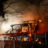 KRISTOPHER RADDER — BRATTLEBORO REFORMER<br /> Multiple crews responded to a two-alarm fire at 22 Travis Street, in Dummerston, Vt., on Thursday, Jan. 24, 2019. The house was fully involved when crews arrived on scene. No injuries were reported but there was a loss of several animals in the home.