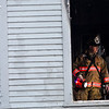 KRISTOPHER RADDER - BRATTLEBORO REFORMER<br /> Members of the Brattleboro Fire Department responded to a two-alarm fire at five-unit apartment building on Western Avenue on Tuesday, April 10, 2018. No injuries were reported.
