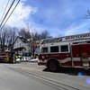 KRISTOPHER RADDER - BRATTLEBORO REFORMER<br /> Crews tackle a second-alarm fire on 55 South Main Street, in Brattleboro, on March 22, 2018.