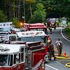 KRISTOPHER RADDER - BRATTLEBORO REFORMER<br /> Crews responded to a two-alarm fire at the Molly Stark Motel on Route 9, in Brattleboro, Vt., on Thursday, Sept. 14, 2017.