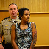 """KRISTOPHER RADDER - BRATTLEBORO REFORMER<br /> April """"Lexi"""" Garcia appears during an arraignment at Windham County Superior Court, Criminal Division, on Friday, May 25, 2018."""