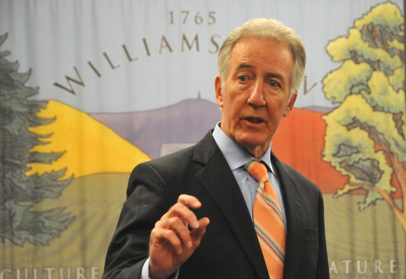 U.S. Congressman Richard Neal speaks with constituents and town officials at Williamstown Town Hall. Friday, June 16, 2017. Scott Stafford  -- The Berkshire Eagle