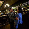 KRISTOPHER RADDER — BRATTLEBORO REFORMER<br /> U.S. Rep. Tulsi Gabbard, for Hawaii's 2nd district and candidate in the Democratic Presidential primary, gives a hug to Brenda Siegel, from Newfane, Vt., when she entered Willie Mac's Irish Pub and Restaurant, in Keene, N.H., for a town hall meeting on Saturday, Feb. 16, 2019.