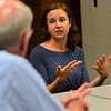 KRISTOPHER RADDER — BRATTLEBORO REFORMER<br /> Rebecca Mitchell, the child nutrition initiatives specialist at Hunger Free Vermont, talks with U.S. Rep. Peter Welch, D-Vt., during a visit to the Boys and Girls Club of Brattleboro onThursday, July 5, 2018.