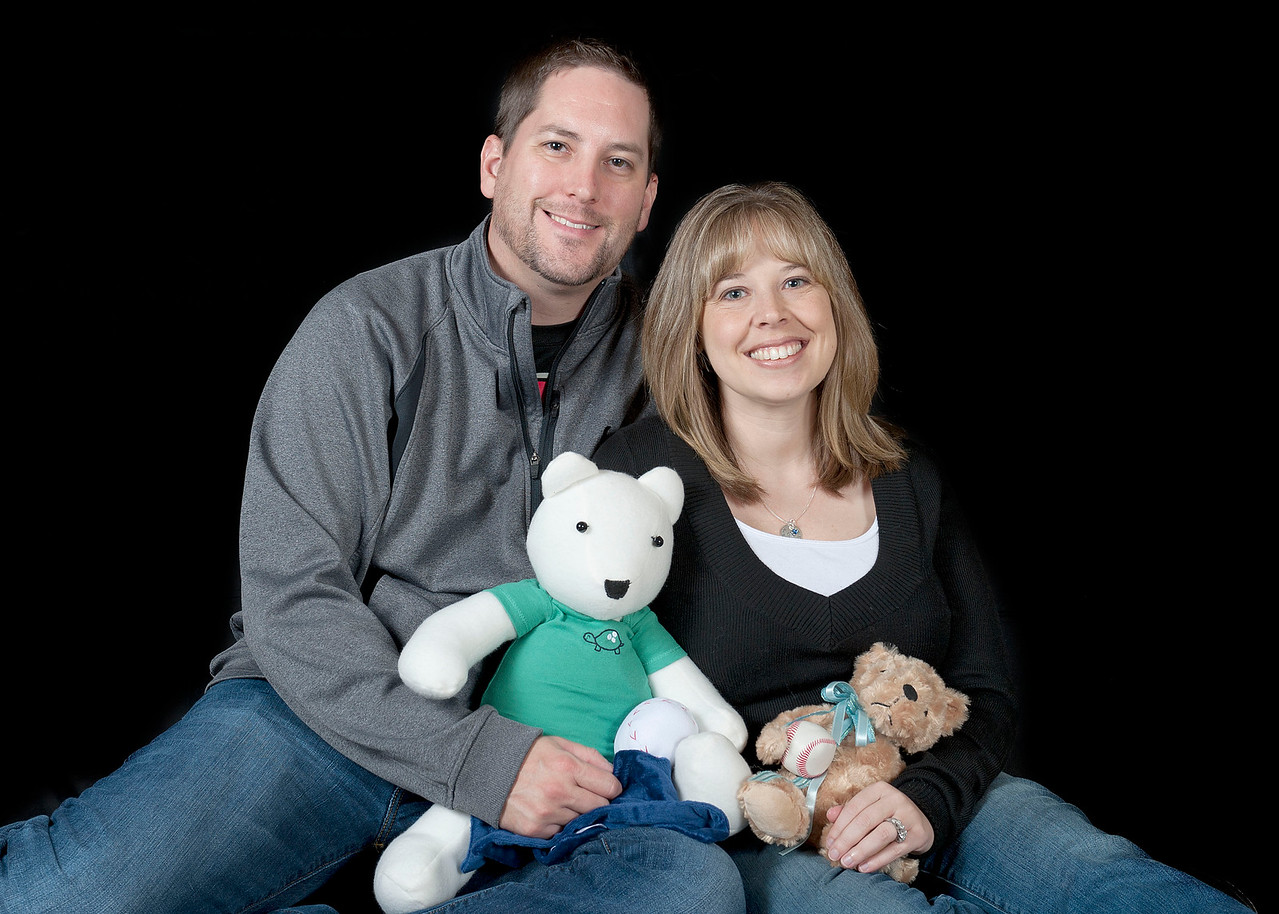 PHOTO PROVIDED Josh and Kelly Poole, of Medina, were entering the final weeks of their first-and healthy- pregnancy when they received news that their unborn son, later named Braeden, had died from an accident involving the umbilical cord.