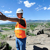 "Joe Castro, Boulder's Public Works Facilities and Fleet Manager describes the mining operation as he  was giving a tour of the site as part of the Valmont Butte Remediation Project on Thursday May 10, 2012. <br /> Photo by Paul Aiken / The Boulder Daily Camera<br /> For a video of the project go to  <a href=""http://www.dailycamera.com"">http://www.dailycamera.com</a>"
