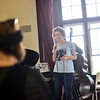 KRISTOPHER RADDER — BRATTLEBORO REFORMER<br /> Sheila Jordan, Vermont Jazz Center's vocal jazz program director, listens to Sara Brodsky, from Newton, Mass., while she sings during the VJC's Summer Jazz Workshop on Friday, Aug. 9, 2019.