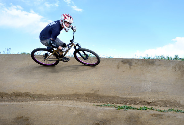 "David Haberkorn, of Louisville, rounds a corner while riding his bicycle on Monday, May 21, at the Valmont Bike Park in Boulder. For more photos and video of the park go to  <a href=""http://www.dailycamera.com"">http://www.dailycamera.com</a><br /> Jeremy Papasso/ Boulder Daily Camera"
