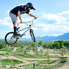 "Shawn Neer, of Boulder, catches some air while riding his bmx bike on Monday, May 21, at the Valmont Bike Park in Boulder. For more photos and video of the park go to  <a href=""http://www.dailycamera.com"">http://www.dailycamera.com</a><br /> Jeremy Papasso/ Boulder Daily Camera"