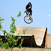 "Jay Fraser, of Boulder, hits one of the bike park features on Monday, May 21, at the Valmont Bike Park in Boulder. For more photos and video of the park go to  <a href=""http://www.dailycamera.com"">http://www.dailycamera.com</a><br /> Jeremy Papasso/ Boulder Daily Camera"
