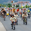 "Riders head down Arapahoe to the Valmont Power Plant.<br /> About 150 people rode bikes from the Central Park bandshell to the Valmont Coal Plant to protest its continued opening. The group  then planted sunflowers near the entrance on Saturday. For more a video and photos  of the protest, go to  <a href=""http://www.dailycamera.com"">http://www.dailycamera.com</a>.<br /> Cliff Grassmick / July 16, 2011"