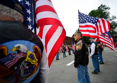 Vermont Patriot Guard Riders transports ashes - 082116