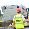 KRISTOPHER RADDER — BRATTLEBORO REFORMER<br /> Demolition begins on the east cooling towers at the Vermont Yankee Nuclear Power Plant, in Vernon, Vt., on Thursday, July 11, 2019. The plant was shut down on Dec. 29, 2014.
